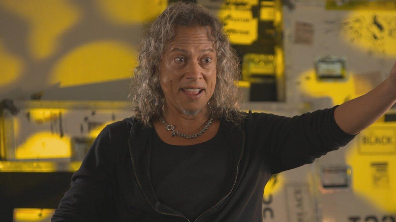 Kirk Hammett do Metallica no Murder in the Front Row: The San Francisco Bay Area Thrash Metal Story