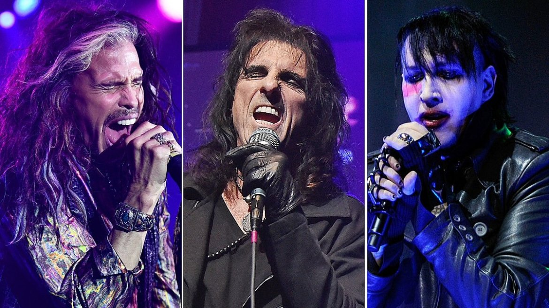 Hollywood Vampires toca com Steven Tyler e Marilyn Manson