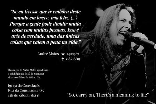 Missa de sétimo dia de Andre Matos
