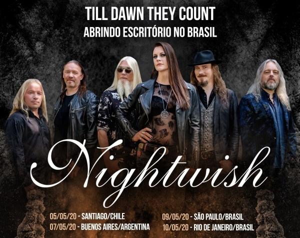 Nightwish anuncia retorno ao Brasil e confirma dois shows no país