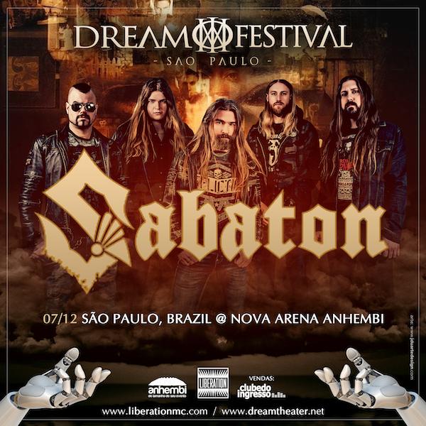 Sabaton virá ao Brasil participar do Dream Festival em SP