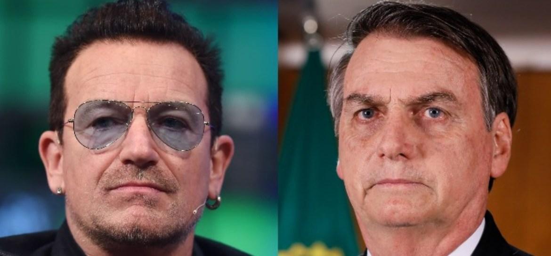 U2 critica Bolsonaro em protesto ecológico