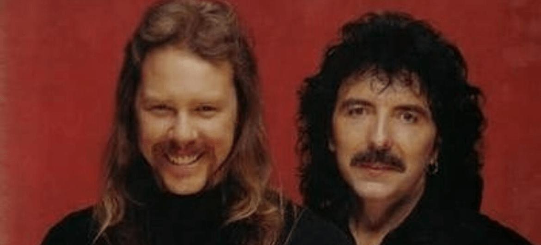 James Hetfield e Tony Iommi