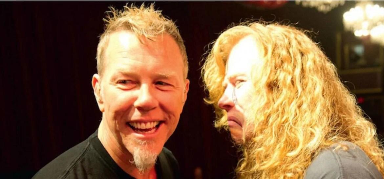 Dave Mustaine conta que se reaproximou de James Hetfield durante tratamento do câncer