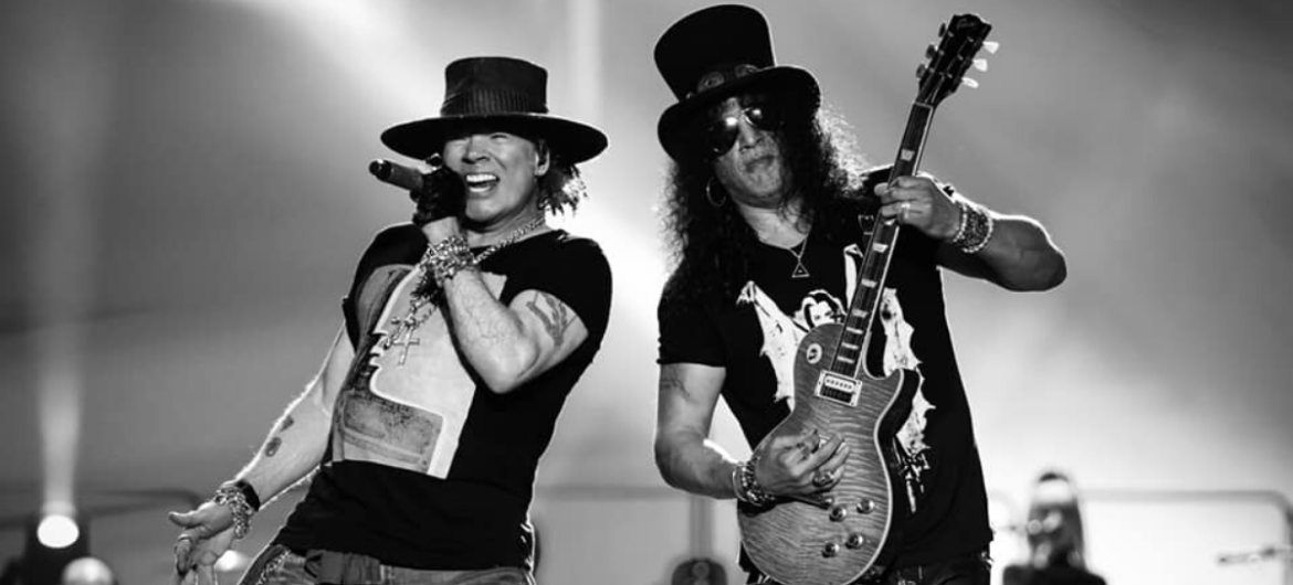 Axl e Slash do Guns N' Roses