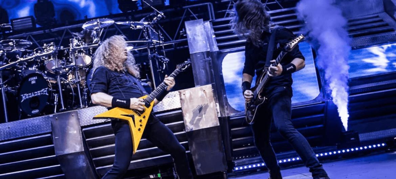 Dave Mustaine e Kiko Loureiro do Megadeth