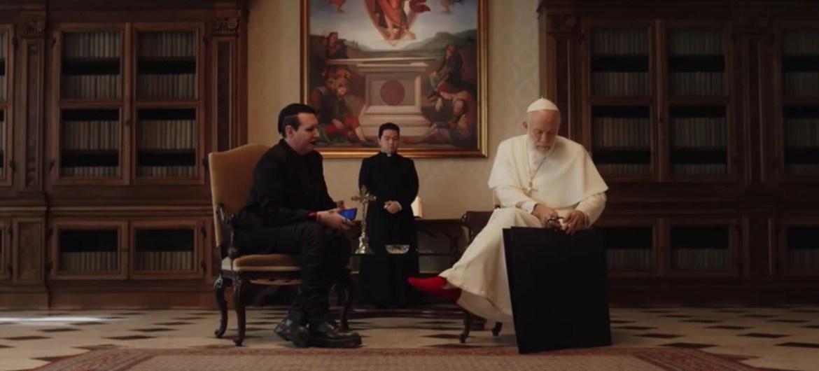 Marilyn Manson na série 'The New Pope'