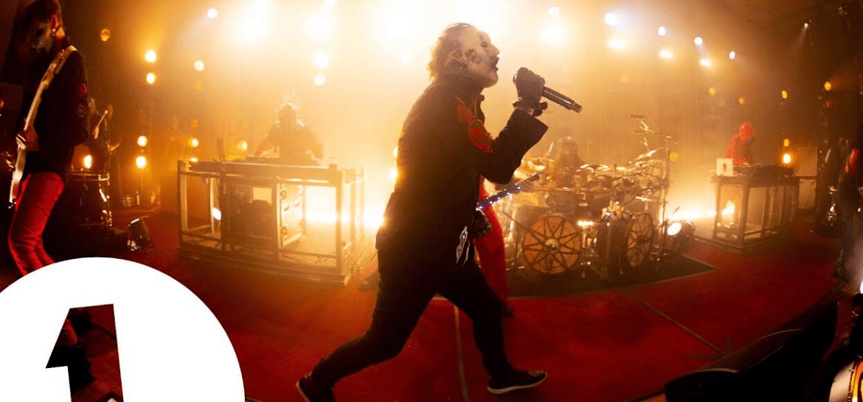 """Slipknot toca """"Unsainted"""" e """"Duality"""" em estúdio famoso de Londres"""
