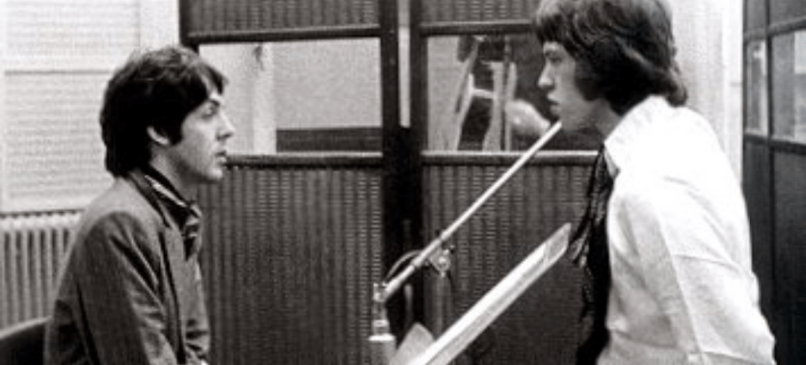 Paul McCartney e Mick Jagger