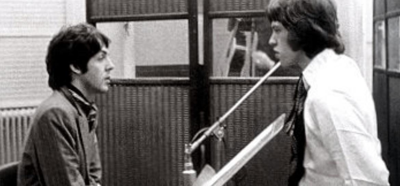 Paul McCartney e Mick Jagger