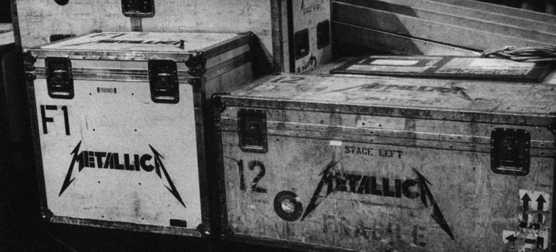 Road cases do Metallica no backstage
