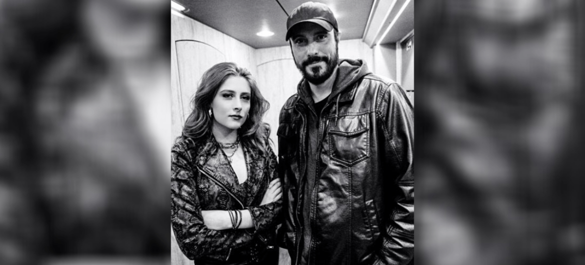 Diamante e Ben Burnley, vocalista do Breaking Benjamin