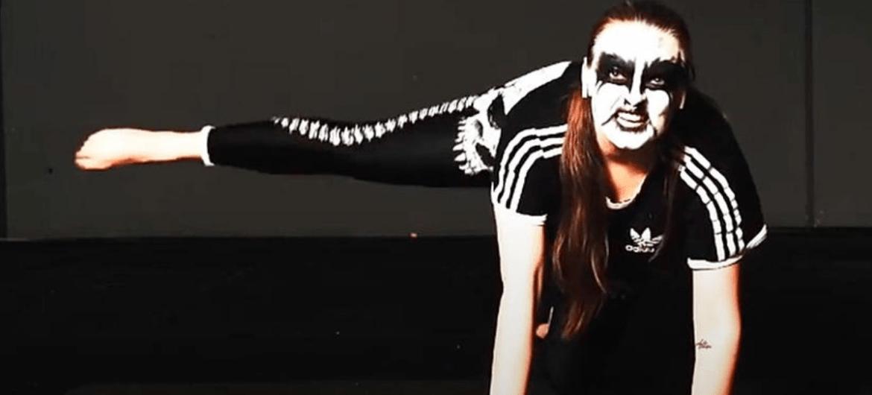 'Metal Yoga with Black Widow'