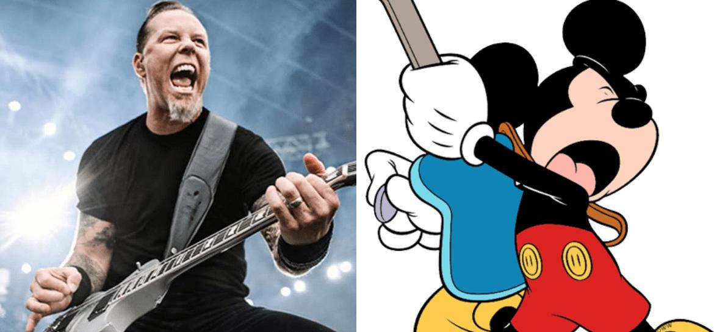 James Hetfield e Mickey Mouse