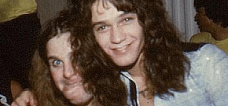 Ozzy Osbourne e Eddie Van Halen em 1978