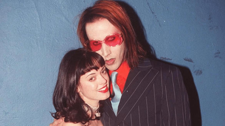 Rose McGowan e Marilyn Manson