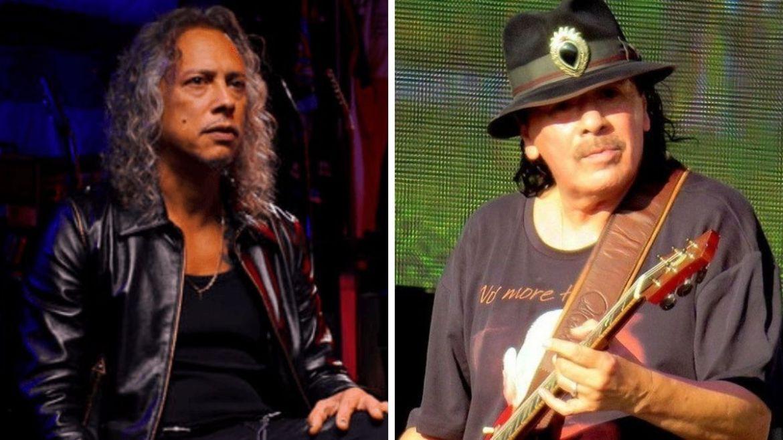 Kirk Hammett (Metallica) e Carlos Santana