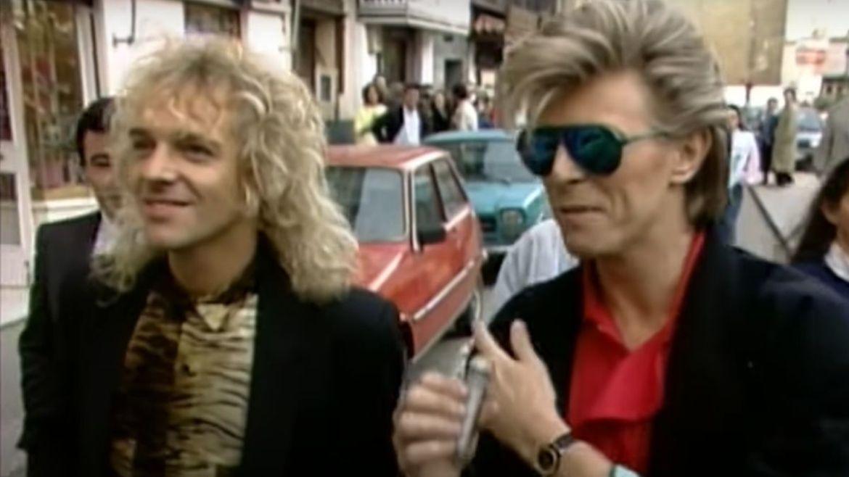 Peter Frampton e David Bowie em 1987