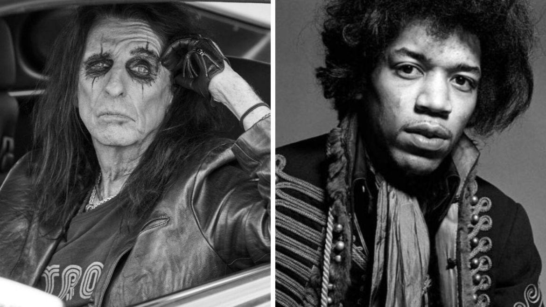Alice Cooper e Jimi Hendrix