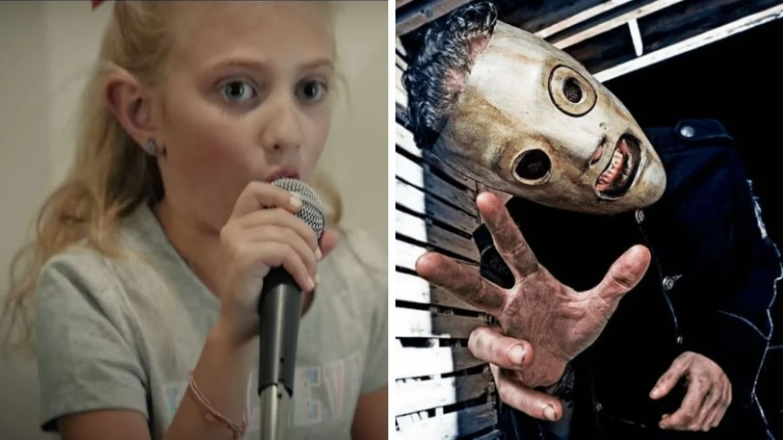 Menina de 8 anos canta Slipknot