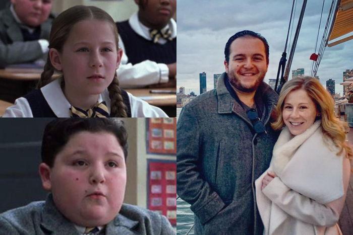 Caitlin Hale e Angelo Massagli no filme e atualmente