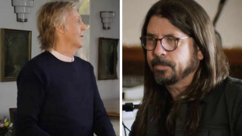 Paul McCartney e Dave Grohl no documentário de Mark Ronson