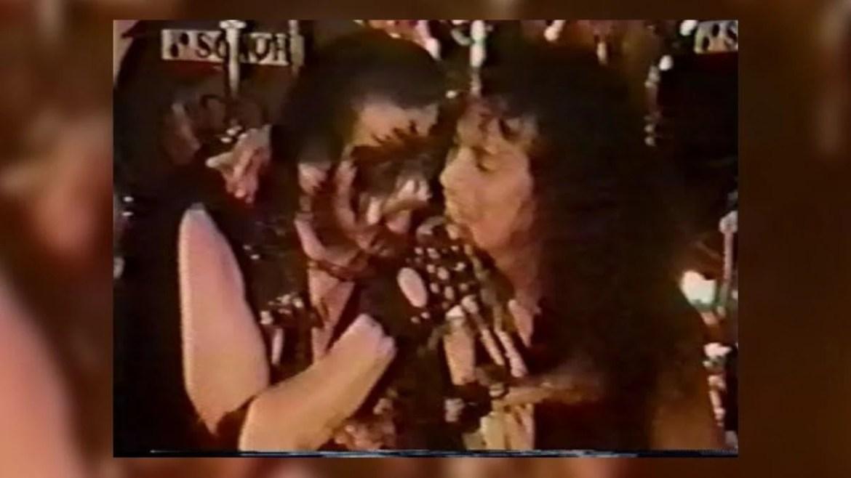 King Diamond e Kirk Hammett em 1986