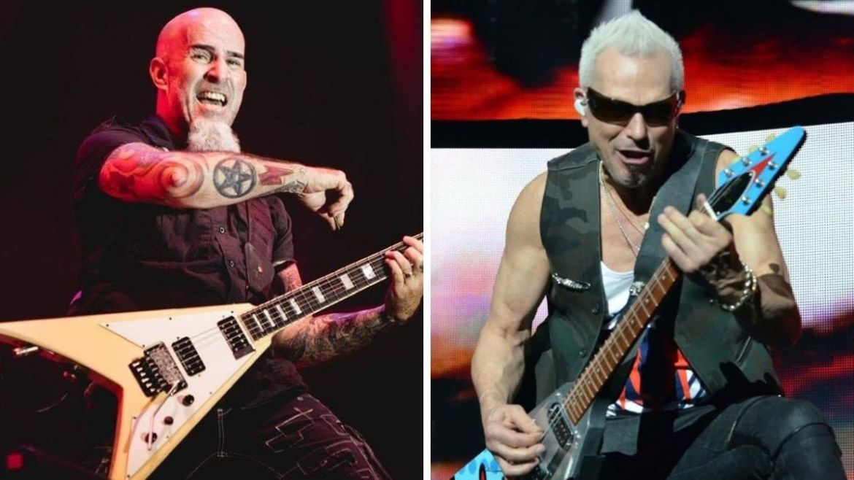 Scott Ian (Anthrax) e Rudolf Schenker (Scorpions)