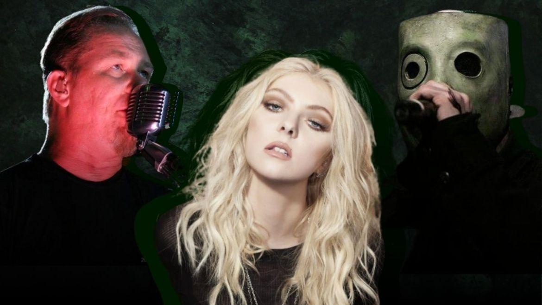 James Hetfield (Metallica), Taylor Momsen (The Pretty Reckless) e Corey Taylor (Slipknot)