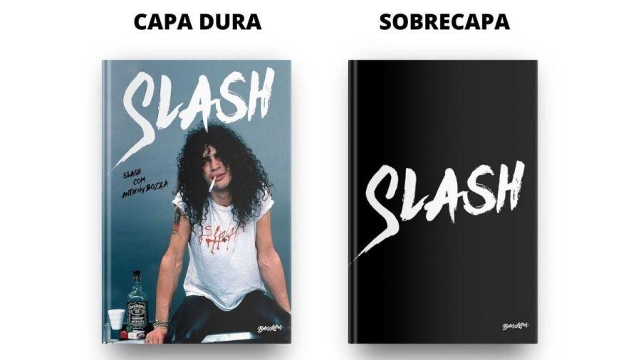 Capa dura do livro 'Slash'