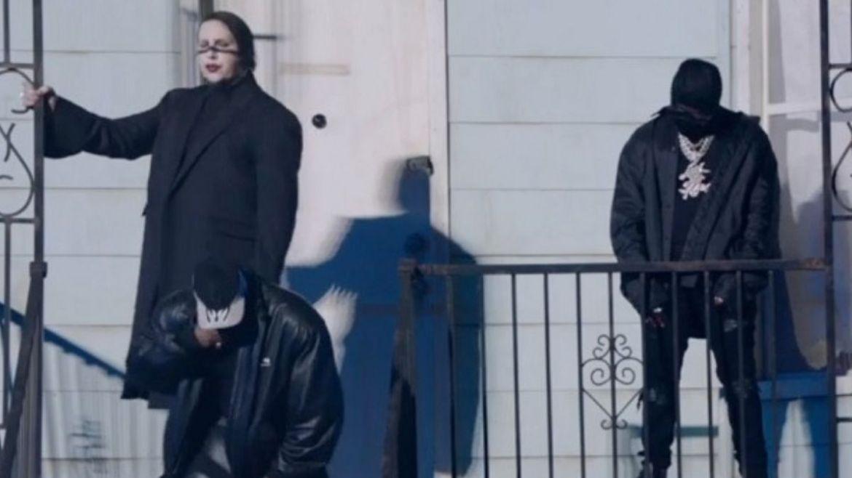 Marilyn Manson em evento de Kanye West