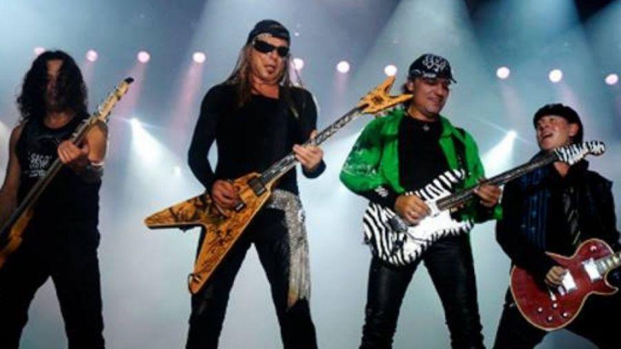 Scorpions durante show em Manaus, em 2007