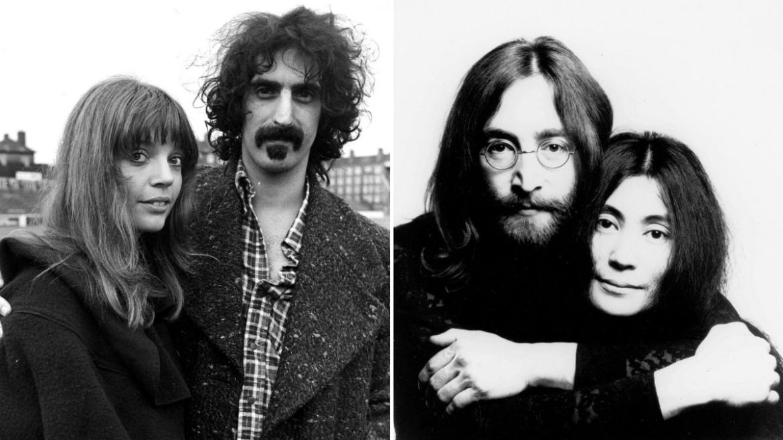 Frank e Gail Zappa, John Lennon e Yoko Ono
