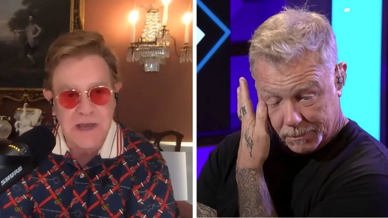 Elton John e James Hetfield