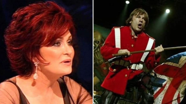 Sharon Osbourne e Bruce Dickinson, do Iron Maiden