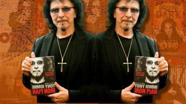 Tony Iommi com a autobiografia 'Iron Man'