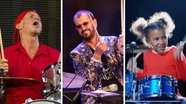 Chad Smith, Ringo Starr e Nandi Bushell