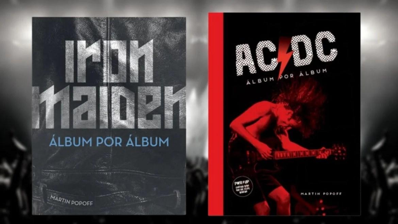 Livros ' Iron Maiden: Álbum por álbum' e 'AC/DC: Álbum por álbum'