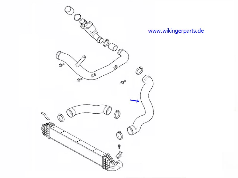 Volvo Charge Air Hose 30792545 › Wikingerparts