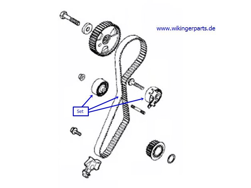 Volvo Timing Belt Kit 31370440 › Wikingerparts