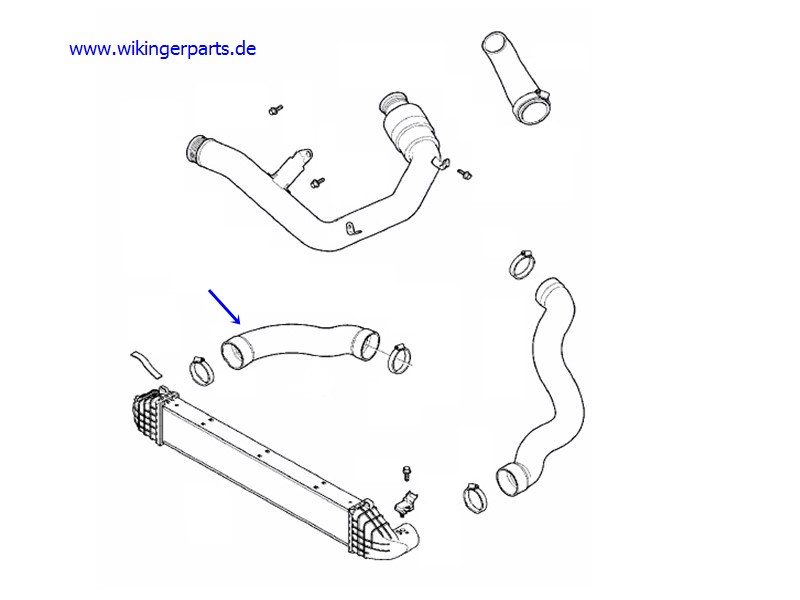 Volvo Charge Air Hose 31293562 › Wikingerparts