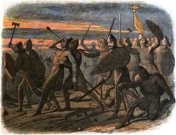 Der Tod von Harald II. bei der Schlacht von Hastings