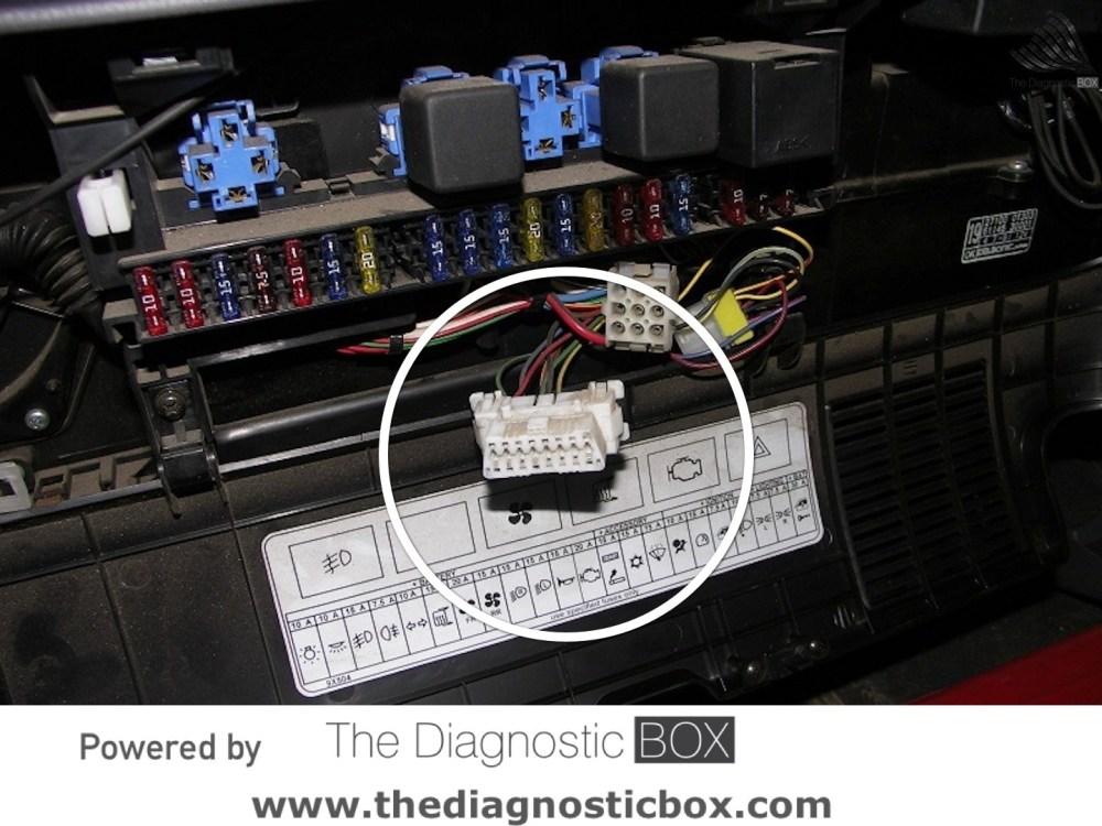 medium resolution of diagnostic socket locatornissan cabstar 2007 u003e 2013 inside fuse box panel report issue
