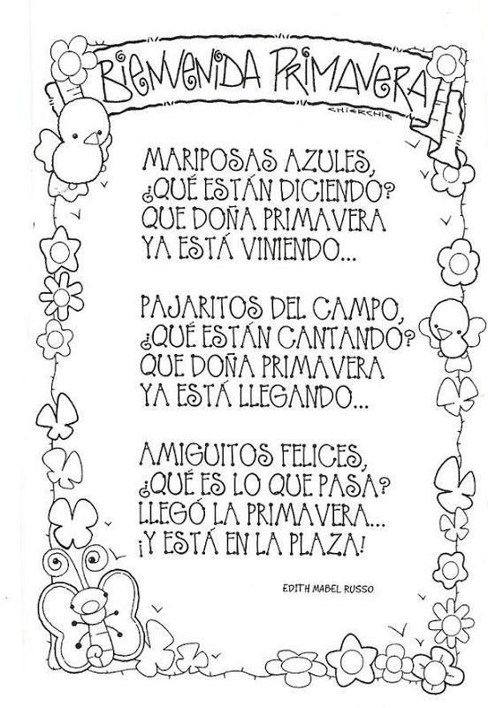 6135b85675606dc538527eb0abe1ffde Poemas y rimas infantiles de la primavera para niños