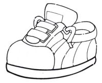 Zapatos Animados Para Colorear Dibujo De Zapatos Para Colorear