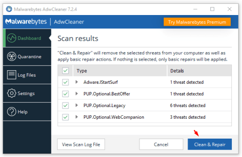 Google Redirect Virus Removal Tool - www.wikishout.com