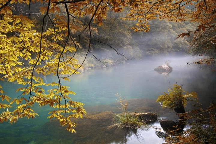 fragas eume the river in autumn, Coruña, Spain