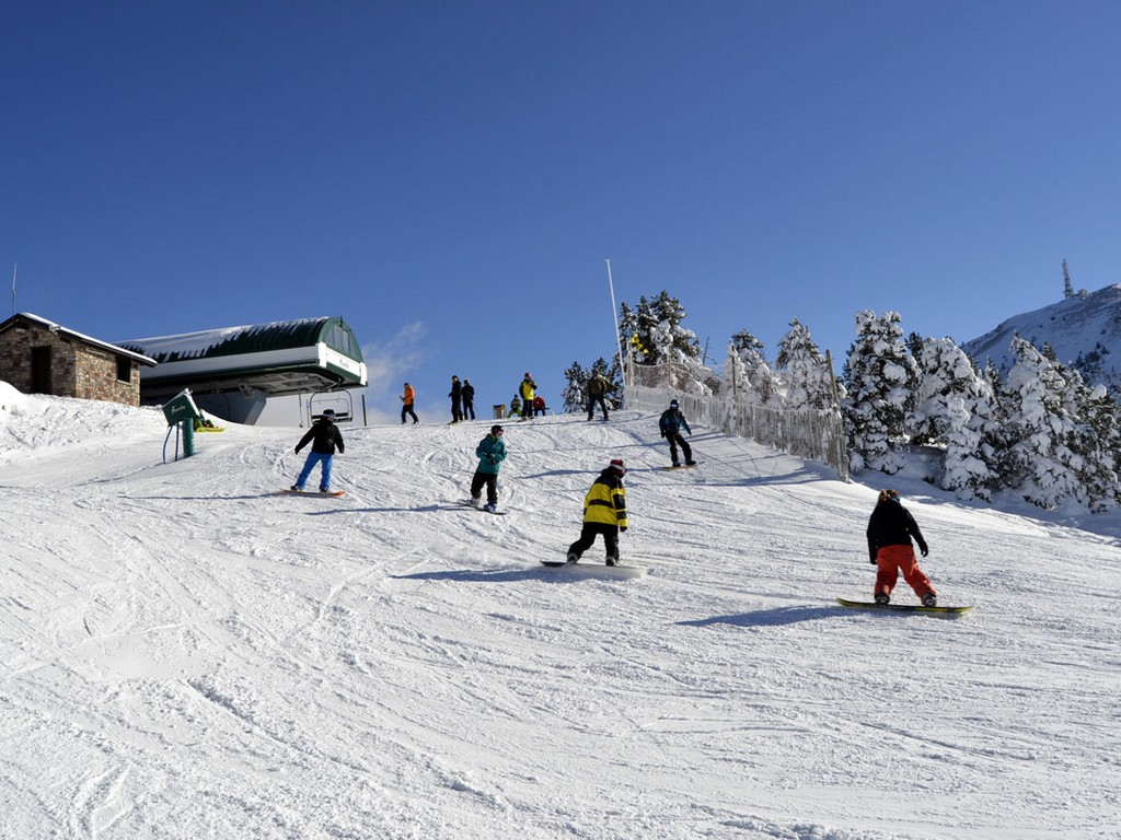 Skiën In La Molina (Lleida, Catalonië)