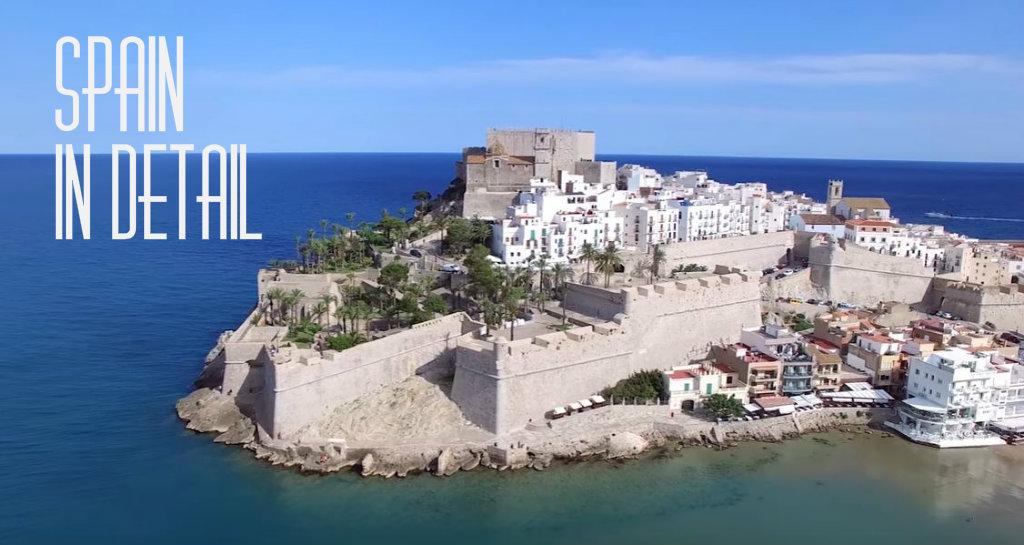 Selectie van korte video's met Spaanse monumenten, natuur en steden in de hoofdrol