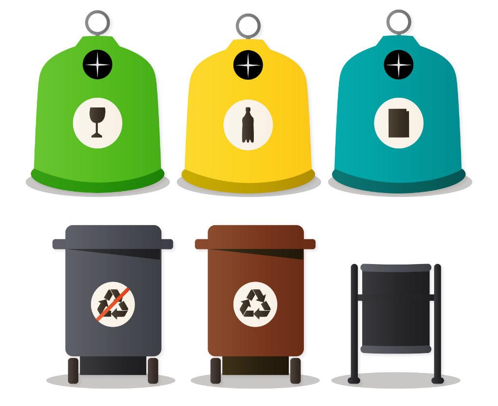 Uitleg over de containers, afvalscheiding en het milieu in Spanje